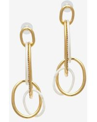 Kara Ross - Interlocking Oval Resinpave Crystal Earrings - Lyst
