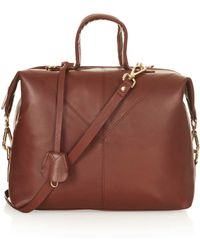 TOPSHOP - Large Leather Doctors Bag - Lyst