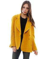 Chanel Goldenrod Wool Blazer - Lyst