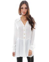 Chanel White Silk Top - Lyst