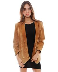 Chanel Brown Suede Jacket - Lyst