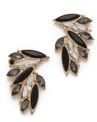 Adia Kibur Black Cascading Earrings - Lyst