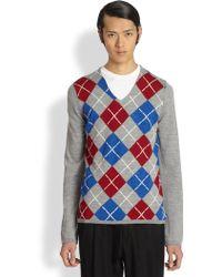 Comme des Garçons Argyle Sweater - Lyst