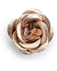 Hook + Albert - Midnight Leather Lapel Flower Pin - Lyst