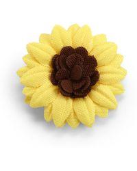 Hook + Albert - Sunflower Lapel Flower Pin - Lyst