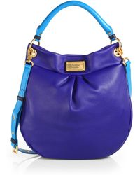 Marc By Marc Jacobs Classic Q Hillier Colorblock Hobo - Lyst