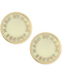 Marc By Marc Jacobs - Enamel Logo Disc Stud Earrings - Lyst