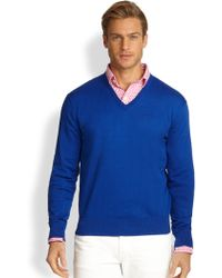 Polo Ralph Lauren Cotton V-Neck Sweater - Lyst