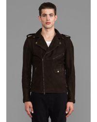 Zanerobe Crosstown Leather Jacket in Chocolate - Lyst