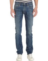 Alex Mill - Selvedge Fivepocket Slim Straight Jeans - Lyst