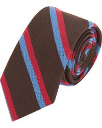 Band of Outsiders - Double Stripe Tie - Lyst