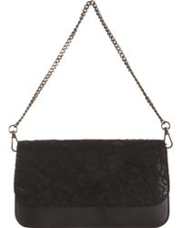 Barneys New York Lace Evening Bag black - Lyst