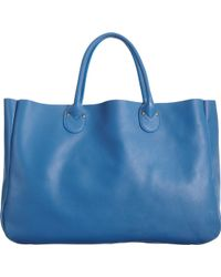 Barneys New York Classic Eastwest Tote blue - Lyst