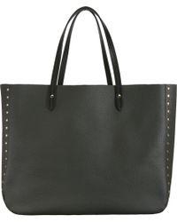 Barneys New York Studded Simple Tote black - Lyst