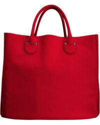Barneys New York Red Eastwest Tote - Lyst