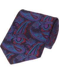 Duchamp Paisley Print Tie - Lyst