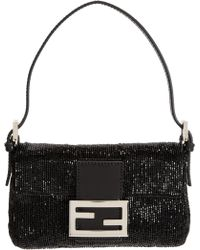 Fendi Beaded Mini Baguette Bag - Lyst