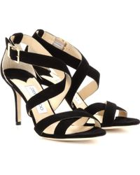Jimmy Choo Louise Suede Sandals - Lyst