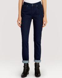 Karen Millen Jeans Dot Pattern - Lyst