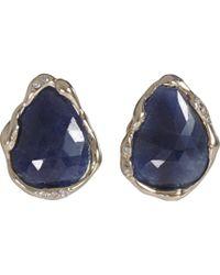Lucifer Vir Honestus - Blue Sapphire Stud Earrings - Lyst