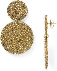 Roni Blanshay - Circular Button Drop Earrings - Lyst
