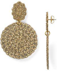 Roni Blanshay - Medium Circle Drop Earrings - Lyst