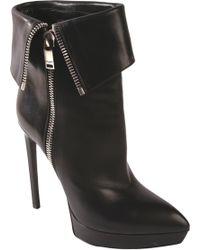 Saint Laurent Janis Side-Zip Ankle Boots - Lyst