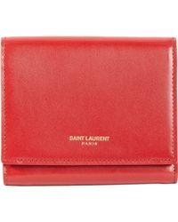 Saint Laurent - Marquage Compact Wallet - Lyst