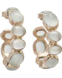 Sandra Dini - Aquamarine Hoop Earrings - Lyst