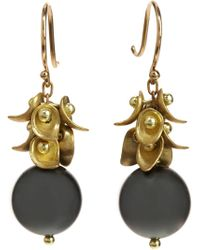Ten Thousand Things - Gold Paisley Cluster Tahitian Pearl Drop Earrings - Lyst