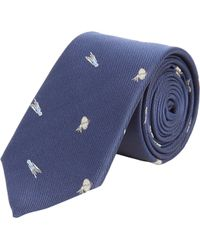 Thom Grey - Shooting Star Embroidered Tie - Lyst