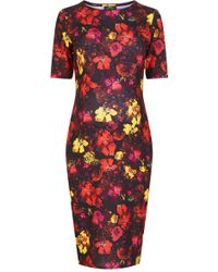 Topshop Ditsy Splash Bodycon Maternity Dress - Lyst