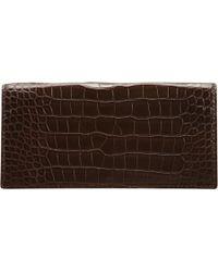 Zagliani - Crocodile Continental Wallet - Lyst