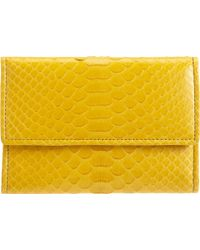 Zagliani - Python French Flap Wallet - Lyst