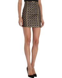 Balmain - Scale Mini Skirt - Lyst