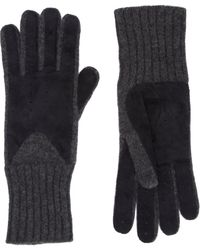 Barneys New York Perforated Knit Gloves - Lyst