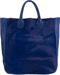 Barneys New York Mixed Material Northsouth Tote blue - Lyst