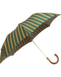 Barneys New York Bordered Stripe Folding Umbrella - Lyst