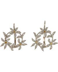 Cathy Waterman - Diamond Circle Of Flowers Earrings - Lyst