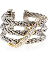 Charriol | Diamondstrand Cable Ring Size 65 | Lyst