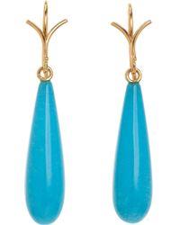 Dean Harris - Turquoise Sleeping Beauty Earrings - Lyst