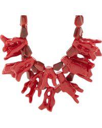 Fenton - Crimson Coral Bib Necklace - Lyst