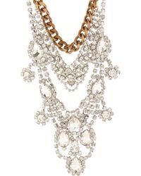 Fenton - Crystal Chain Bib Necklace - Lyst