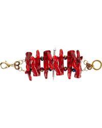 Fenton - Crimson Coral Stacked Cuff - Lyst