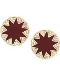 House of Harlow 1960 - Sunburst Button Stud Earrings Cranberry - Lyst