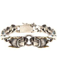 King Baby Studio Skull Link Bracelet - Lyst