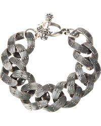 King Baby Studio Textured Chain Link Bracelet - Lyst