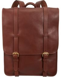 Lotuff Leather - Backpack with Brass Hardware - Lyst
