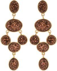 Marcia Moran - Bronze Druzy Chandelier Earrings - Lyst