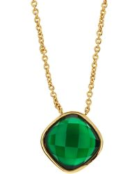 Marcia Moran - Onyx Pendant Necklace Green - Lyst
